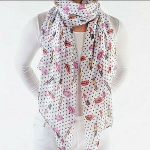 PRINTED VILLAGE•Make up themed scarf•NWT•